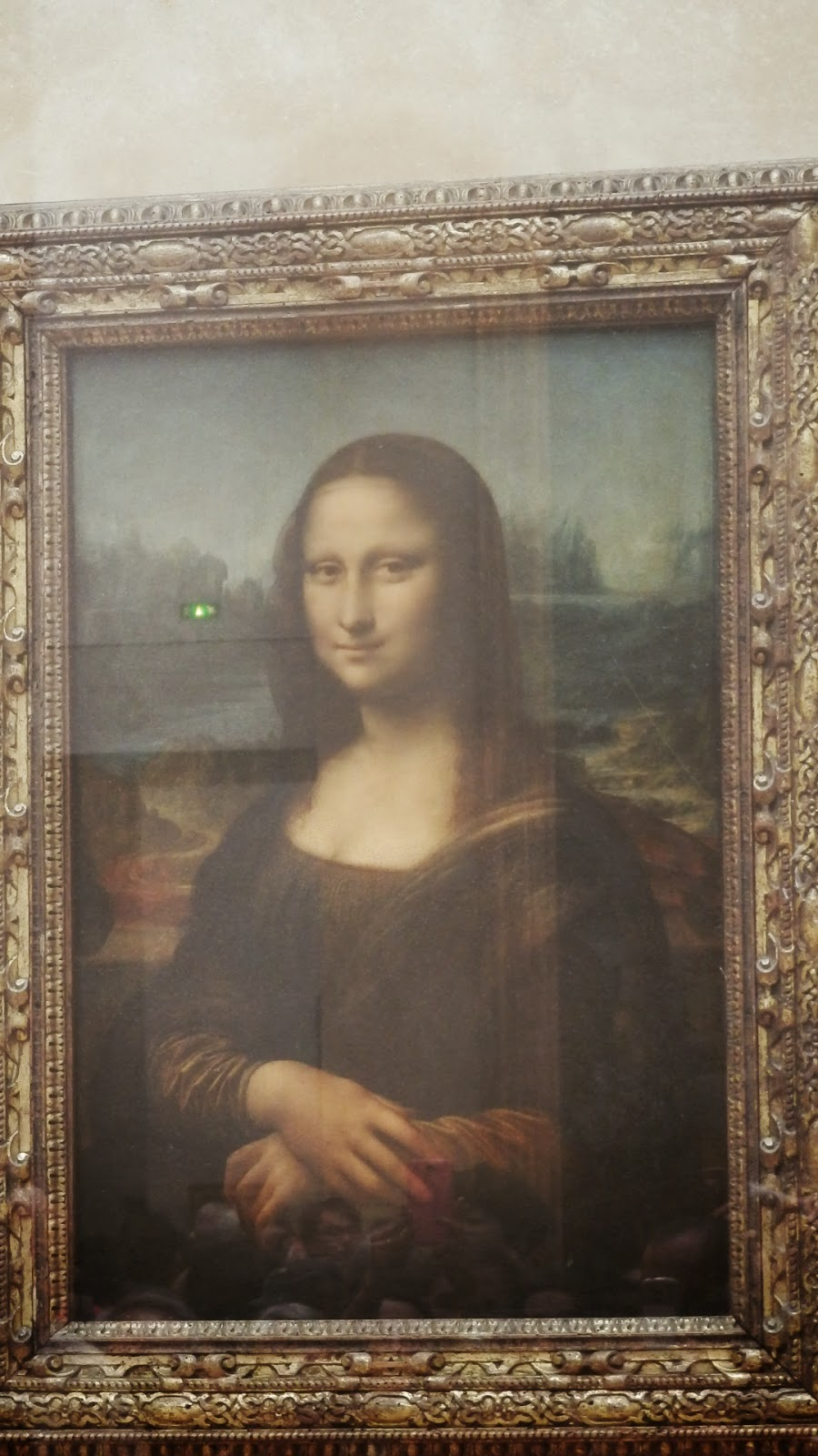 The Mona Lisa in the Louvre museum in Paris