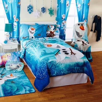Kamar Desain Anak Perempuan Tema Frozen