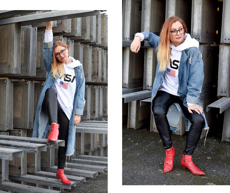 was passt zu einer Bikerjeans, was passt zu einem Jeansmantel, Modeblogger