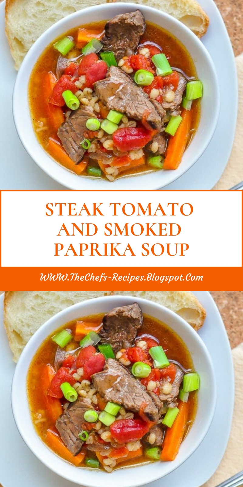 STEAK TOMATO AND SMOKED PAPRIKA SOUP