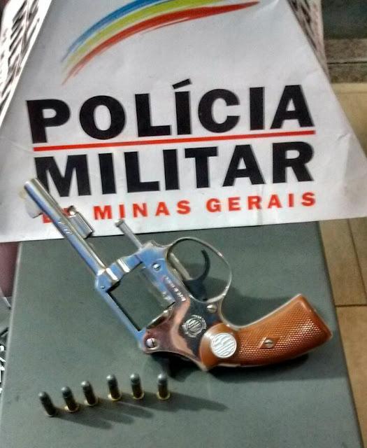 PM de Jacutinga apreende revólver em Forró localizado na rodovia Jacutinga x Albertina