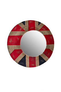 Metal Union jack Mirror
