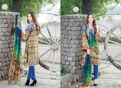 Shaista Shamoze Silk Embroidered Dresses Collection