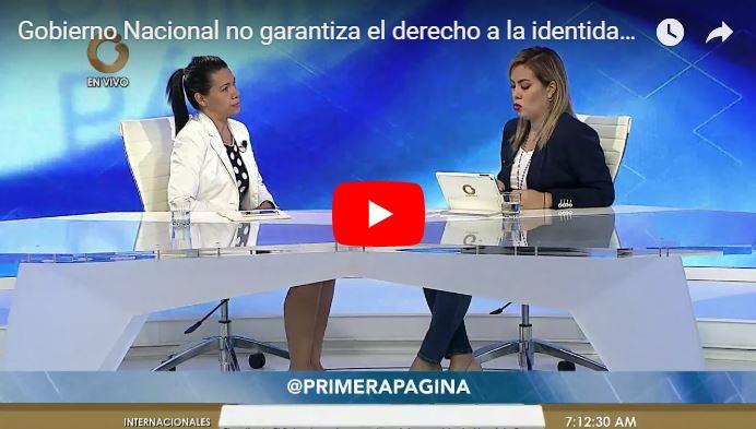 Diputada acusa al régimen de violar el derecho universal a la Identidad del ser humano