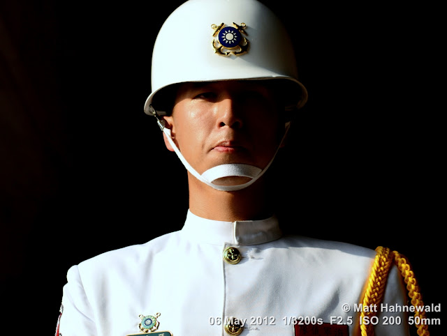 people, street portrait, headshot, Taiwan, Taipei, Taiwanese soldier, uniform, Chiang Kai-shek Memorial Hall