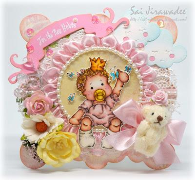 Magnolia Baby Girl Tilda Card
