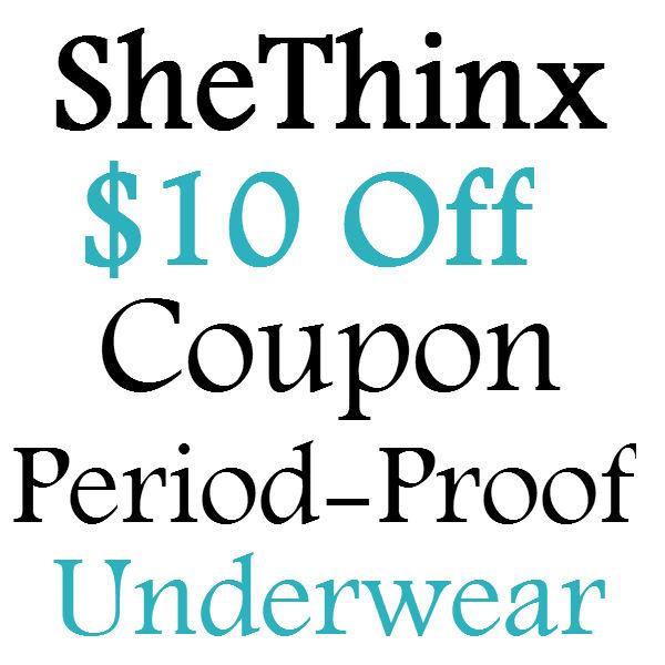 $10 off Thinx Coupon Code 2017, SheThinx $10 Credit Discount Code 2017 June, July, August, September, October, November, December