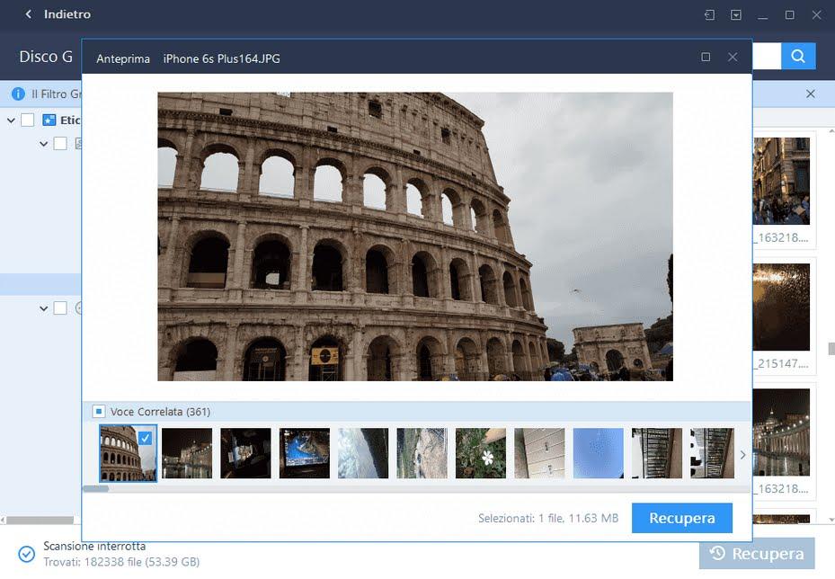 Software gratuito per recuperare foto cancellate in meno di 5 minuti.