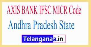 AXIS BANK IFSC MICR Code Andhra Pradesh State