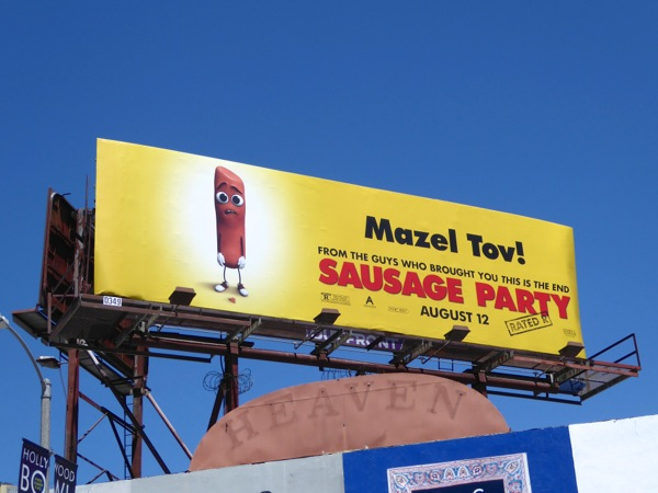 Sausage Party Mazel Tov movie billboard