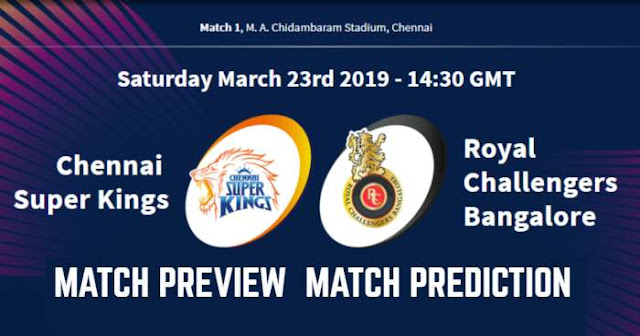IPL 2019 Match 1 CSK vs RCB Match Prediction, Preview and Head to Head: Who Will Win?