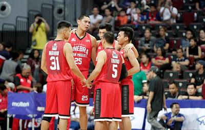 Barangay Ginebra Team Huddle