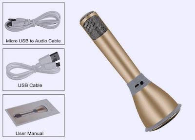 Mic karaoke 3 trong 1 với các phụ kiện đi kèm