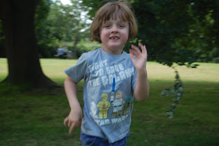Running child at Sissinghurst