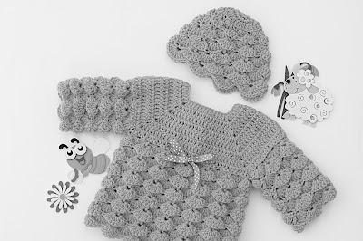 6 - Imagen gorro chambrita de abanicos en relieve a crochet. Majovel crochet