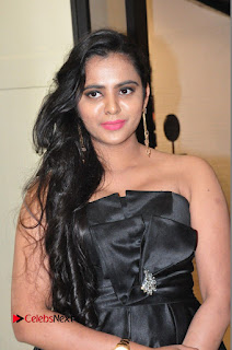 Actress Manasa Himavarsha Pictures in Black Short Dress at The Great Hydrerabad Life Style EXPO II  0001.JPG