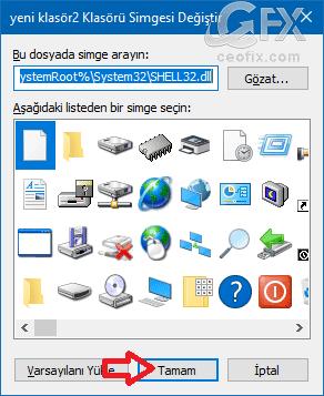 Windows klasör simgesi nasıl değiştirilir? www.ceofix.com