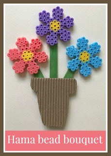 Hama bead flower bouquet