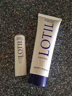 lotil cream and lip balm