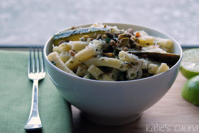 Ziti and Zucchini with Lime & Herbs