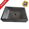 Wastafel marmer tulungagung kotak halus asli batualam 35 x 40cm