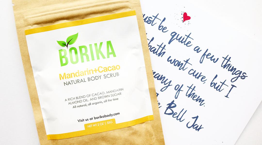 Borika Mandarin + Cacao Natural Body Scrub