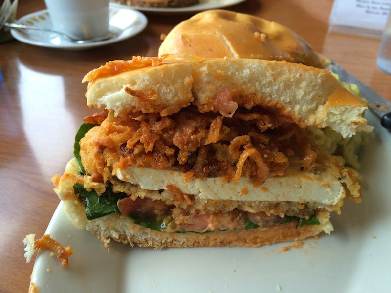 The Eugenewich vegan sandwich at Cornbread Cafe in Eugene, Oregon