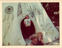 Pam Ciampi living in a tipi