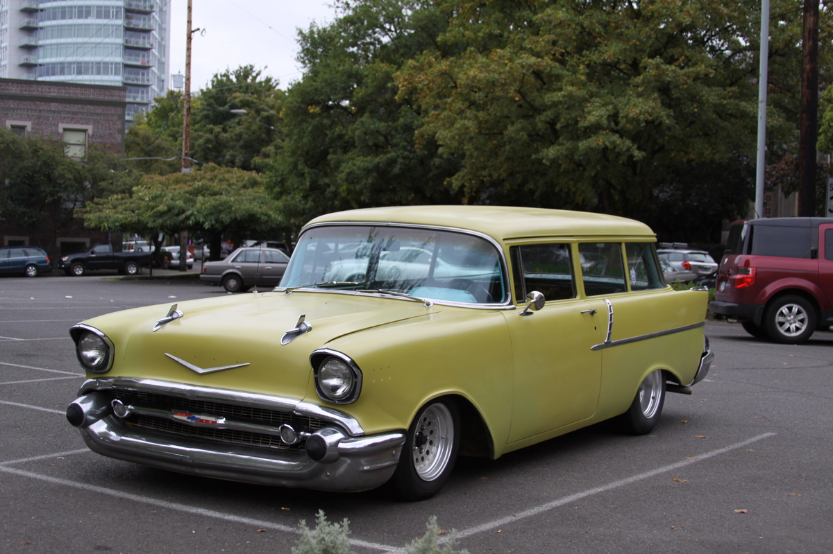 Two Door Cars Old Parked Cars 1957 Chevrolet 2 Door Wagon