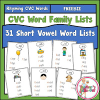 Free Word Family Booklet