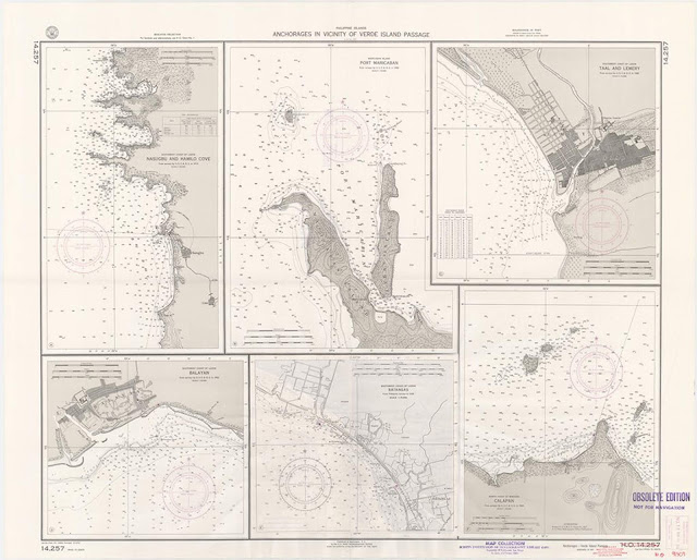 Map of anchorages near the Verde Island Passage from USC at San Diego Library Digital Collection.