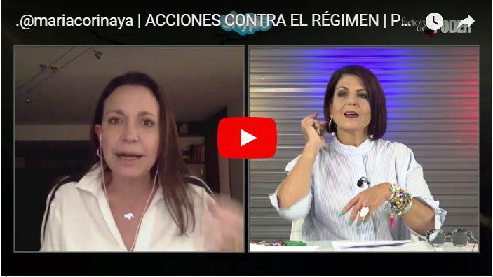María Corina Machado podría ser detenida por Maduro tras inculparla por el burricidio