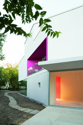 Facade of The L House by Philippe Stuebi Architekten GMBH
