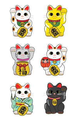 Maneki-Neko-colores-y-formas-signifcado
