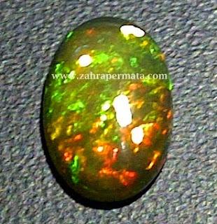 Batu Permata Black Opal Kalimaya
