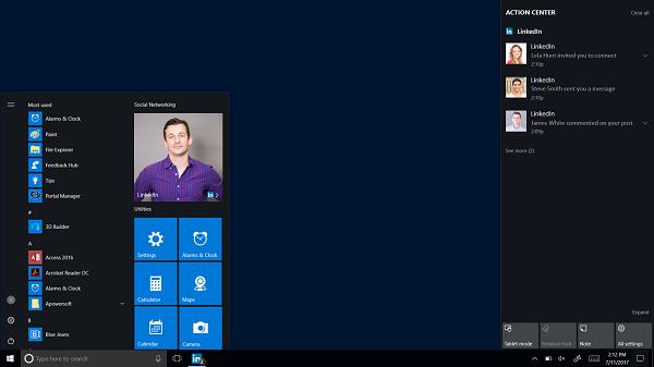 LinkedIn launches Windows 10 app