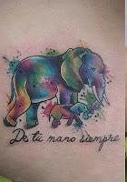tatuaje elefantes de tu mano siempre
