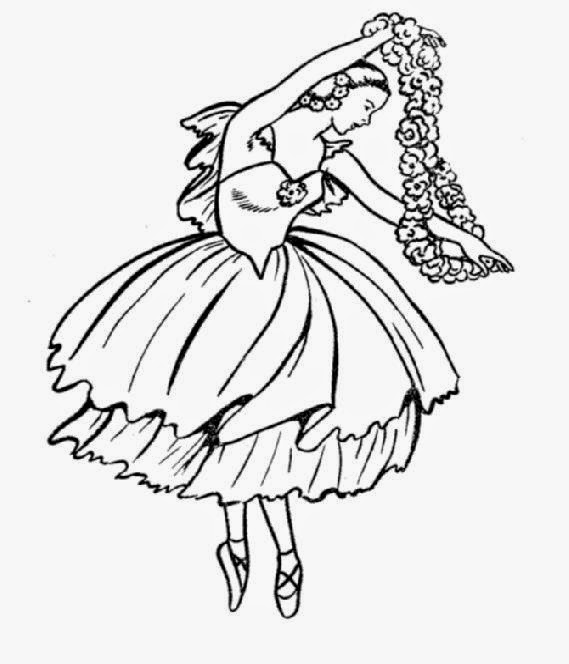 Ballet coloring sheets free coloring sheet for Printable dance coloring pages