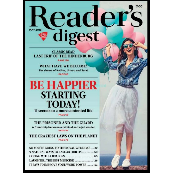 Reader's Digest India Magazine MAY 2018-PDF Download