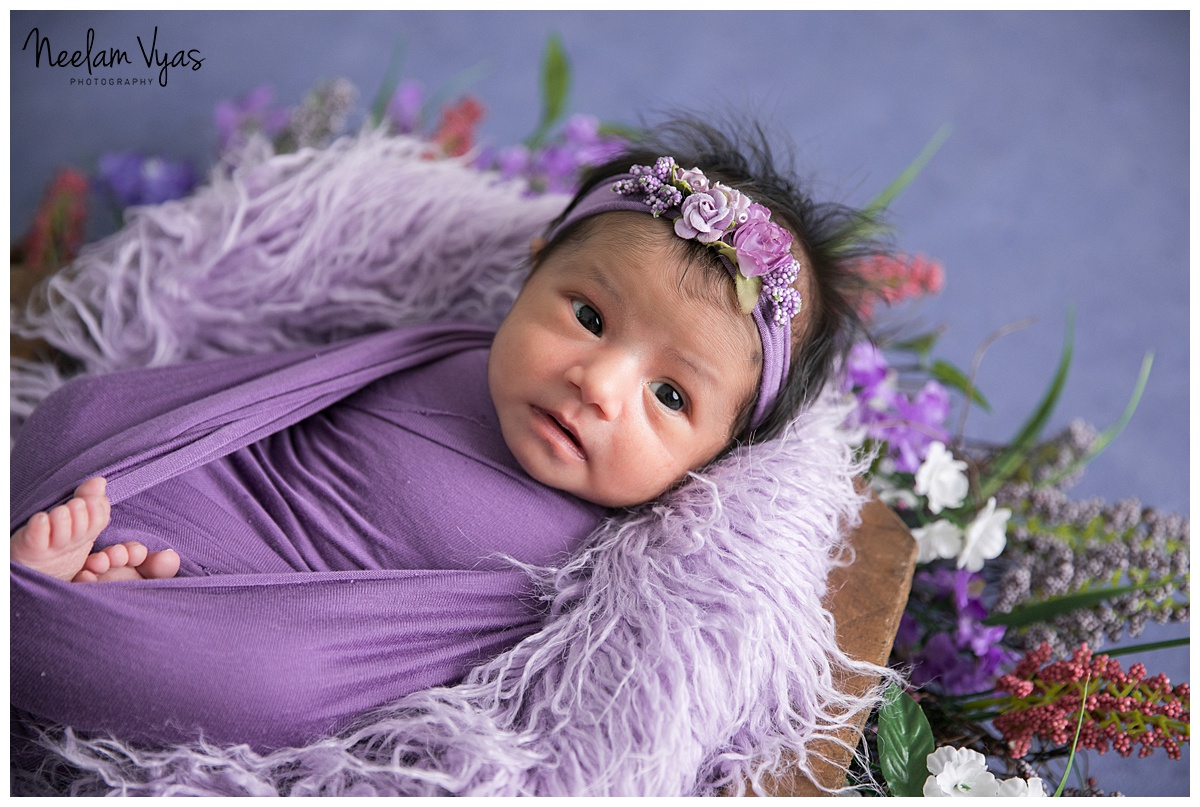 Love the baby in purple 15 days new