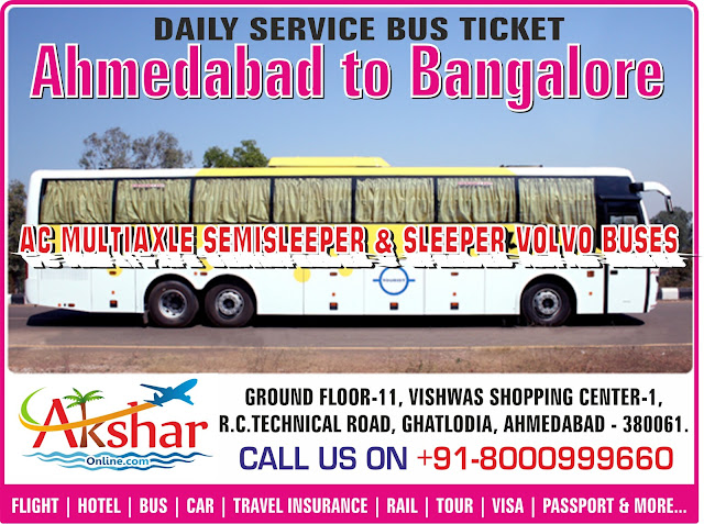 bus ticket, bus ticket to bangalore, volvo ticket to bangalore, Ahmedabad to Bangalore, Bangalore to Ahmedabad, Volvo Bus Services, Volvo Ticketing, Multiaxle Bus Ticketing, Sleeper Volvo Booking, ahmedabad travel agent, tour operator in ahmedabad, Travel Agent in Ahmedabad, Ghatlodia ahmedabad tour operator, Bangalore air ticket agent in ahmedabad, cheap air ticket, air ticket booking, best airfare to bangalore, hotel in bangalore, package in bangalore, aksharonline.com, akshar infocom, ghatlodia, ahmedabad, gota travel agent, aksharonline.in, 9427703236, 8000999660