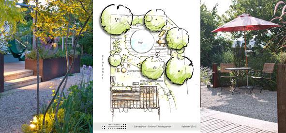 Terrasse und Sitzplatz planen, Gartenplanung, Bepflanzung planen, wir planen Ihren Garten - Waas Freiraumplanung