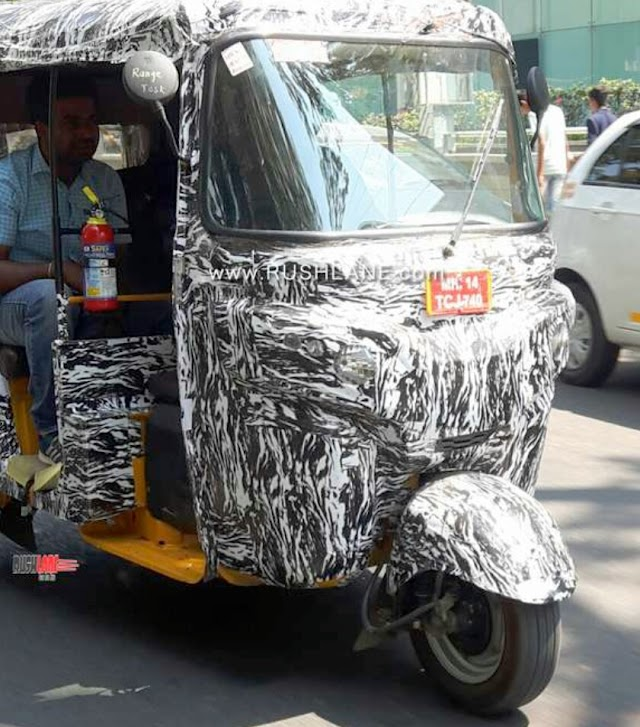 Bajaj plan  eletric rickshaw in India.