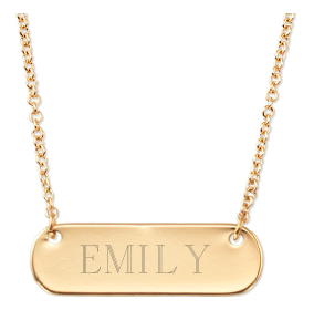 Engravable Stella & Dot Bar Necklace