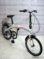 2 Sepeda Lipat Laux Roma 20 Inci - Designed in Italy