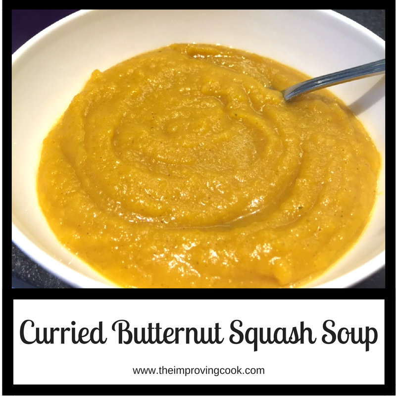 The Improving Cook: Curried Butternut Squash Soup