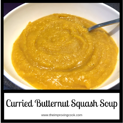 Curried Butternut Squash Soup pinnable image