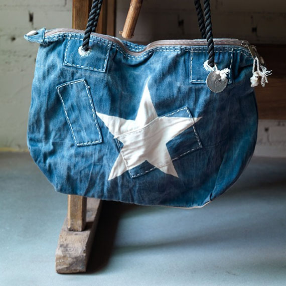 recicled denim canvas bag by Ali Lamu