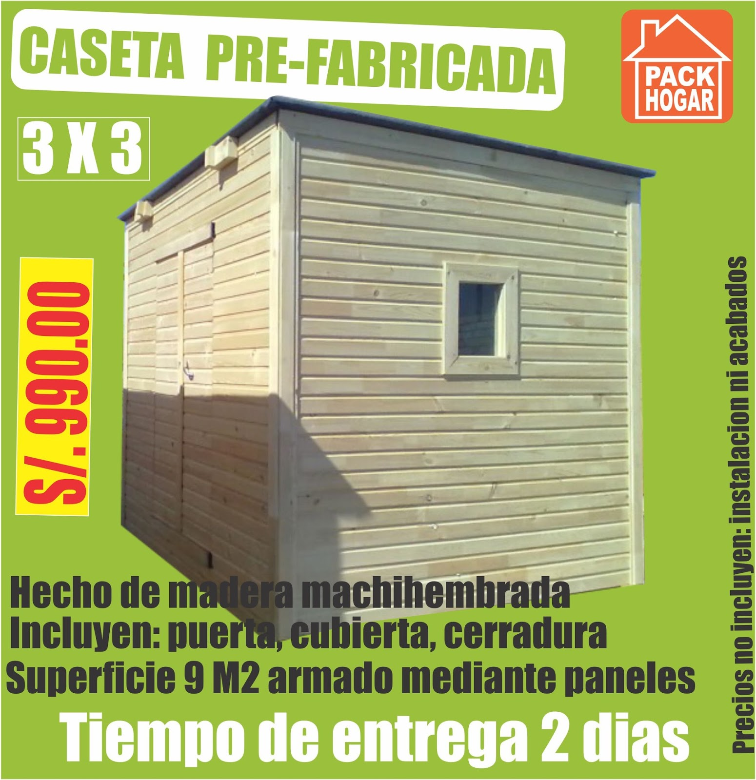 Catalogo de precios casetas m dulos prefabricadas for Casetas prefabricadas para jardin