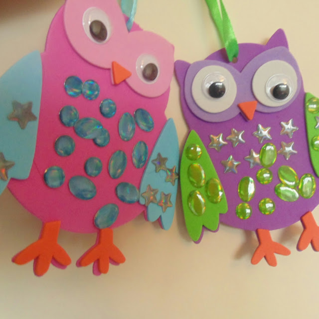 Baker Ross,  Jewelled owl decorations